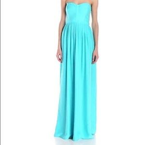 ‼️SALE‼️Parker Bayou Strapless Blue Maxi Dress